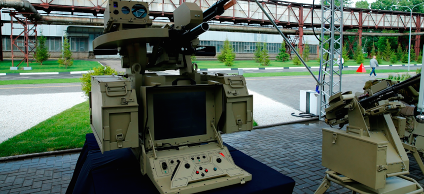 "A photo a neural-network run ""combat module"" from the Russian Kalashnikov Group."