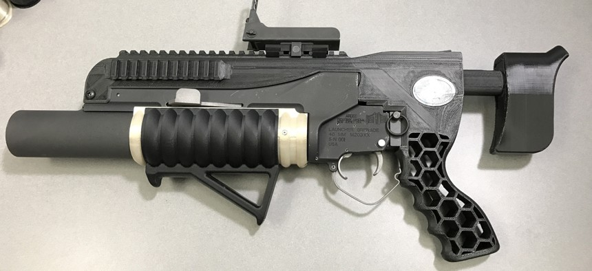 The additive-manufactured RAMBO system includes an NSRDEC-designed standalone kit with printed adjustable buttstock, mounts, grips and other modifications—modifications made possible by the quick turnaround time afforded by 3D printing