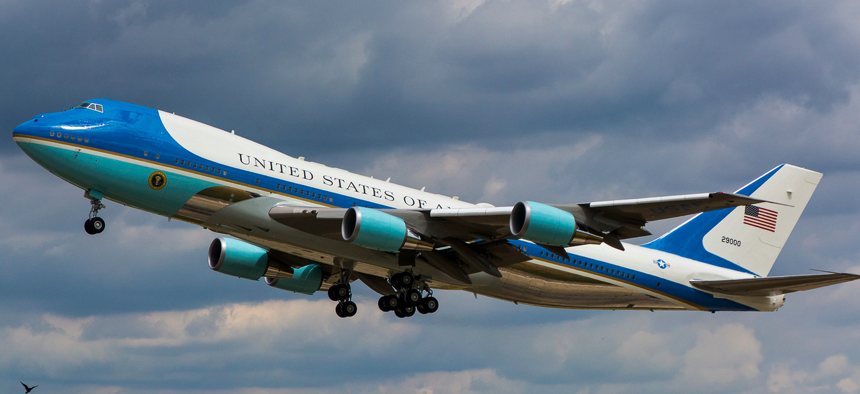 Take-Off Runway 26 with Pdt Donald Trump on board.