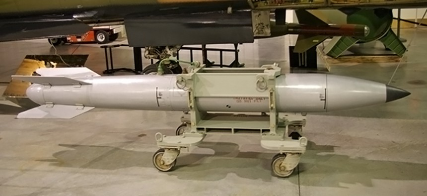 A B61 tactical nuclear weapon, probably an inert training version.