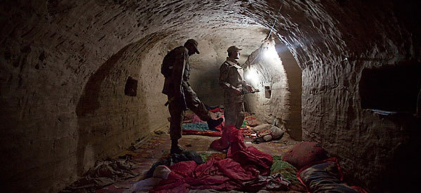 Tora Bora Caves in Afghanistan on December 2001.