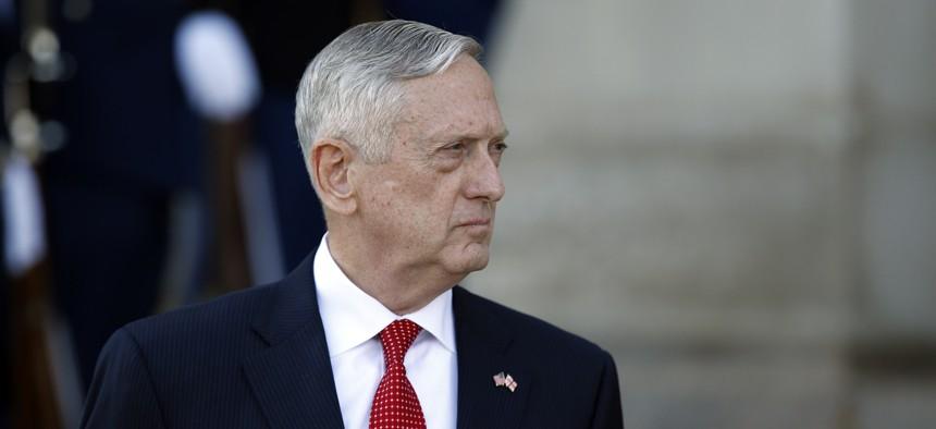 Defense Secretary James Mattis at the Pentagon, Nov. 13, 2017, in Washington.