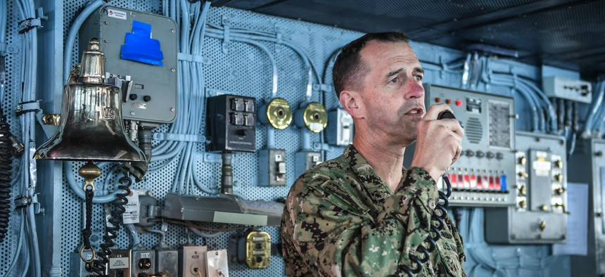 Last March, Chief of Naval Operations Adm. John Richardson warned top officers and civilian officials against talking too openly with the press.