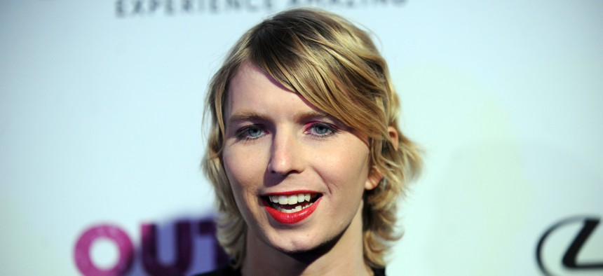 Chelsea Manning at the OUT Magazine 100 Party, New York City, the Altman Building, November 9, 2017