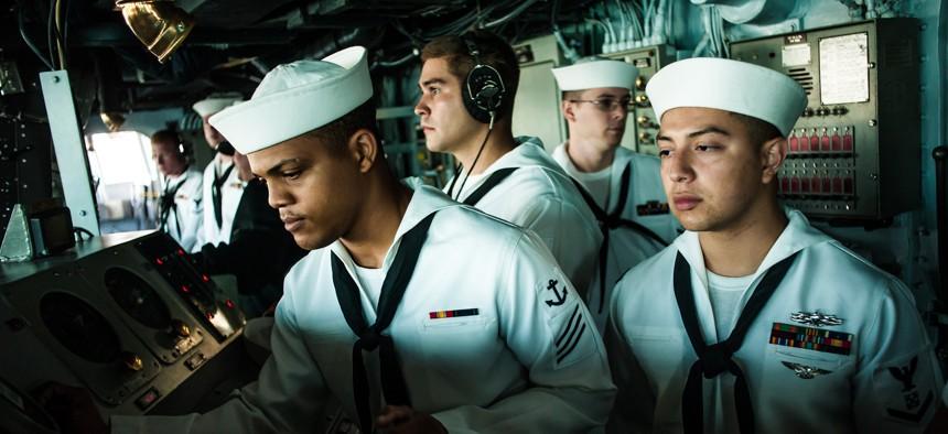 File photo: bridge of the amphibious assault ship USS Boxer (LHD 4)