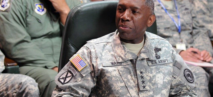 """Army Gen. William """"Kip"""" Ward, pictured here in 2010, lost a star and was ordered to repay $82,000 for his misconduct, but avoided court-martial."""