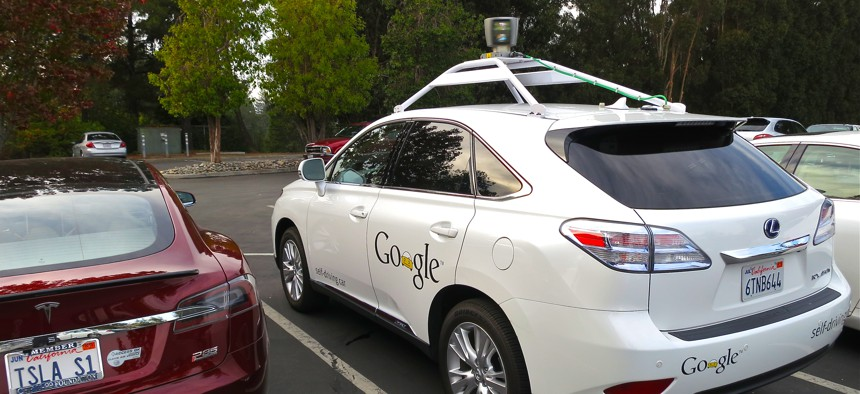 Right, a Lexus RX450h retrofitted by Google for its driverless car fleet.