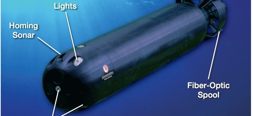 L3's Remora autonomous underwater vehicle.