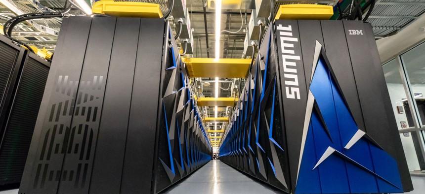 The Summit supercomputer has a peak speed of 200 petaflops, or 200,000 teraflops.