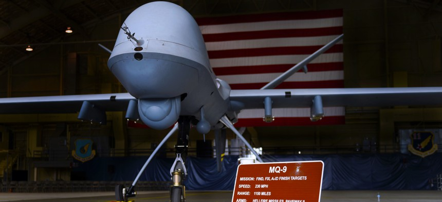 The MQ-9 Reaper, Joint Base Elmendorf-Richardson, Alaska.