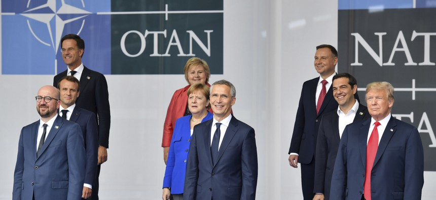 NATO leaders gather in Brussels for a two-day summit to discuss Russia, Iraq and their mission in Afghanistan on July 11, 2018