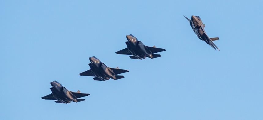 F-35 UK Arrival at RAF Marham on June 6, 2018.