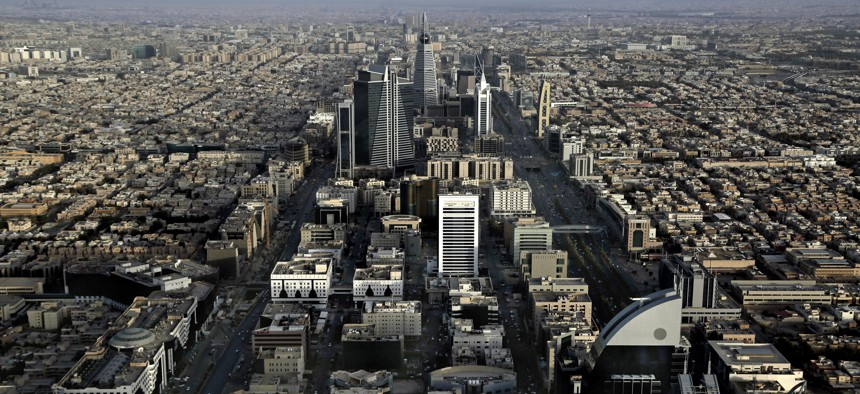 This June 23, 2018 photo, shows a general view of Riyadh, Saudi Arabia.