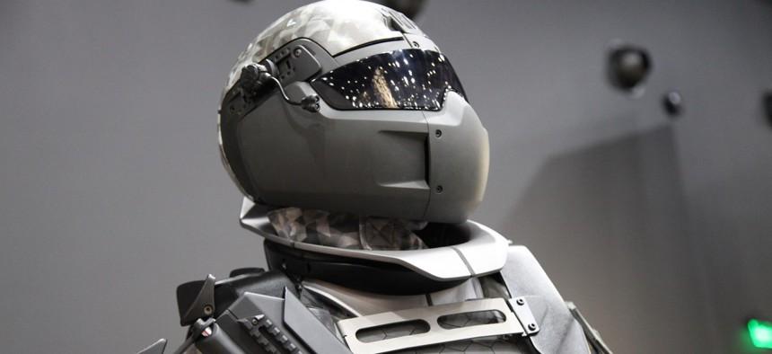 the Ratnik-3 exoskeleton from Russian weapons maker TsNiiTochMash.