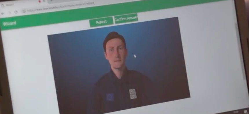 A screenshot from the iBorderCtrl, an EU effort to detect deception in travelers at border crossings.