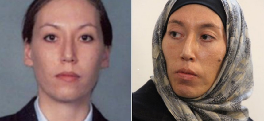 Monica Elfriede Witt, a former Air Force intelligence officer, charged on Wednesday with spying for Iran.
