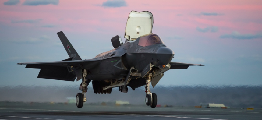 The F-35 Pax River Integrated Test Force tests aboard HMS Queen Elizabeth (R08) for phase two of the first of class flight trials (fixed wing) from British Queen Elizabeth Class carriers.