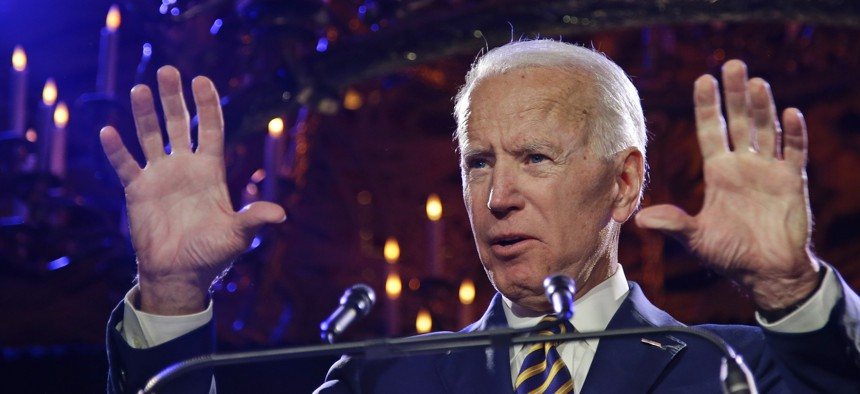 Former Vice President Joe Biden speaks at the Biden Courage Awards Tuesday, March 26, 2019, in New York.