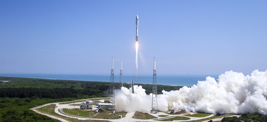 An Atlas V lifts off from Cape Canaveral Air Force Station, Fla.