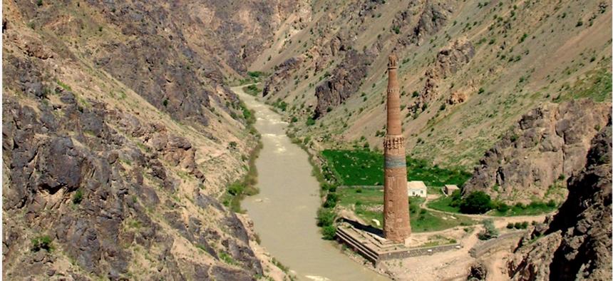 Minaret of Jam, Afghanistan, in 2005