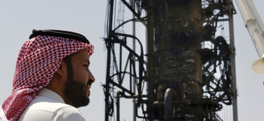 Aramco's Khurais oil field, shown a Sept. 20 photo opportunity organized by the Saudi information ministry.