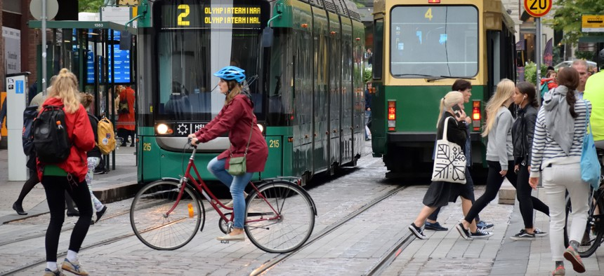 Helsinki, Finland. Studies show that societies with less income inequality are less susceptible to fake news.