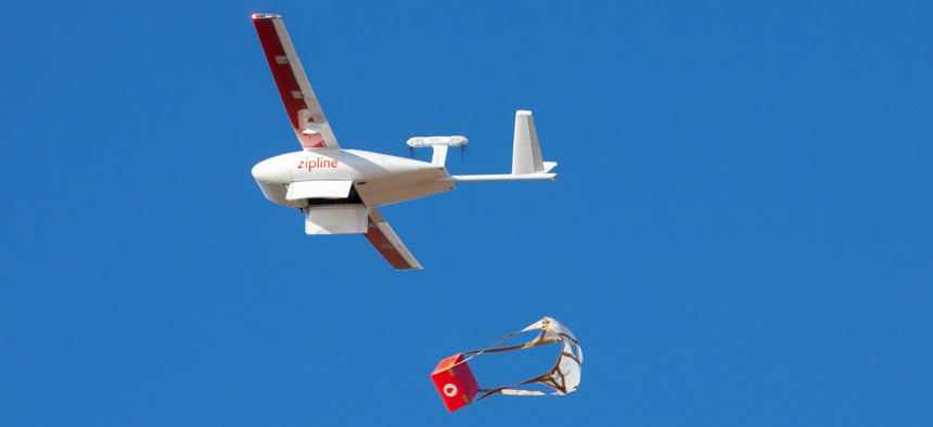 A medical delivery drone from Zipline