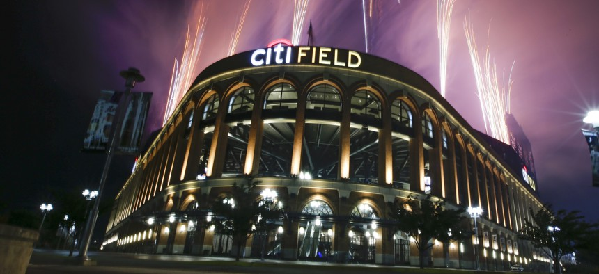 Citi Field after the New York Mets' baseball game against the Philadelphia Phillies on Saturday, July 6, 2019.