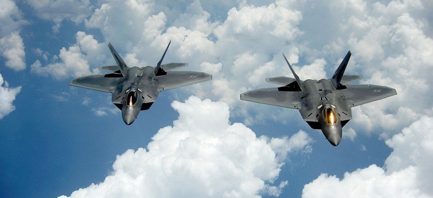 The new AIM-260 missile will eventually arm the Air Force's F-22 Raptors.
