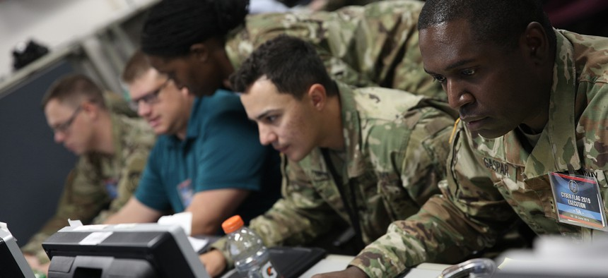 U.S. service members and civilians, as well as partner nation military personnel, participated in the Cyber Flag 19-1 exercise, June 21-28, in Suffolk, Virginia.