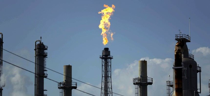 A flame burns at the Shell Deer Park oil refinery in Deer Park, Texas. Iran has increased its offensive cyberattacks against the U.S. government and critical infrastructure as tensions have grown between the two nations, cybersecurity firms say