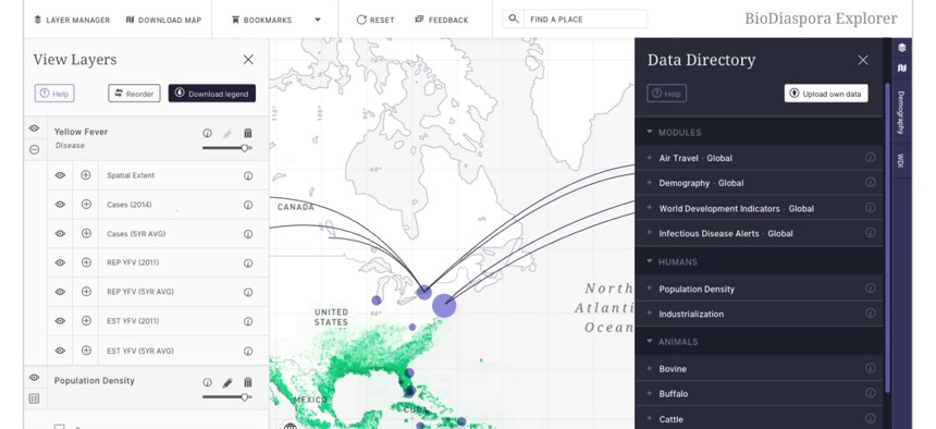 """BlueDot's Insights product """"sends near real-time infectious disease alerts based on what's relevant to you,"""" the company says."""