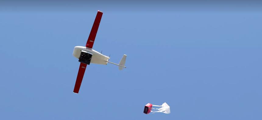 A Zipline delivery drone