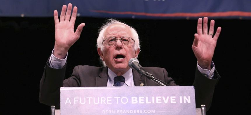 Sen. Bernie Sanders has been leading progressive Democrats' calls to cut defense spending.