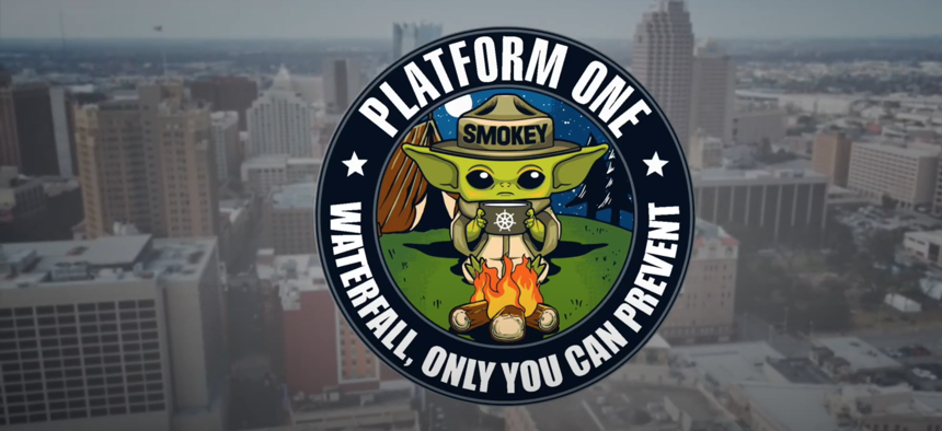 The motto of Platform One refers to a traditional method of software development.