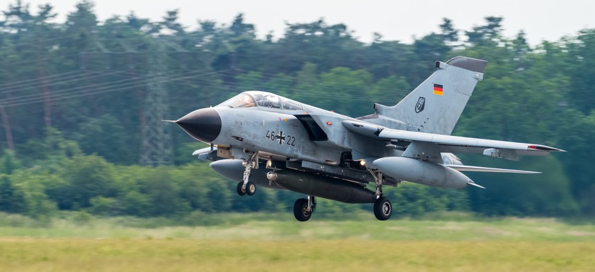 A 2016 photo of a German Air Force Tornado, one of the few aircraft that can drop U.S. B61 nuclear bombs.
