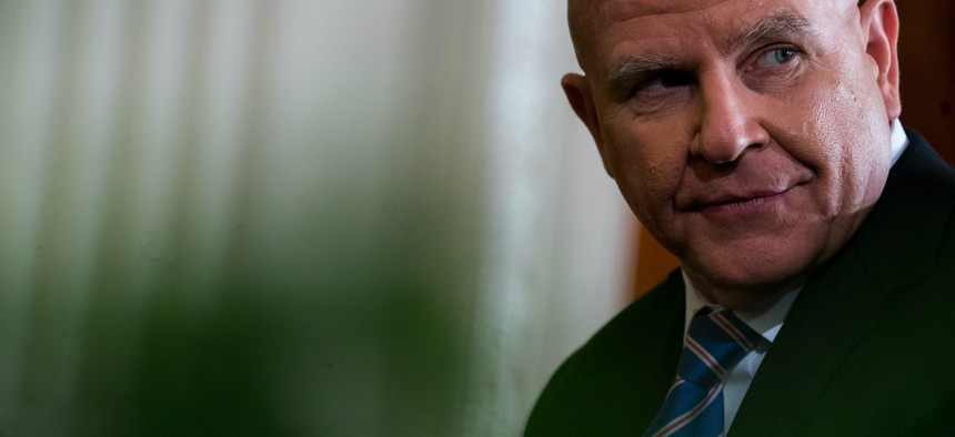 Then-National Security Adviser H.R. McMaster at the White House on April 3, 2018.