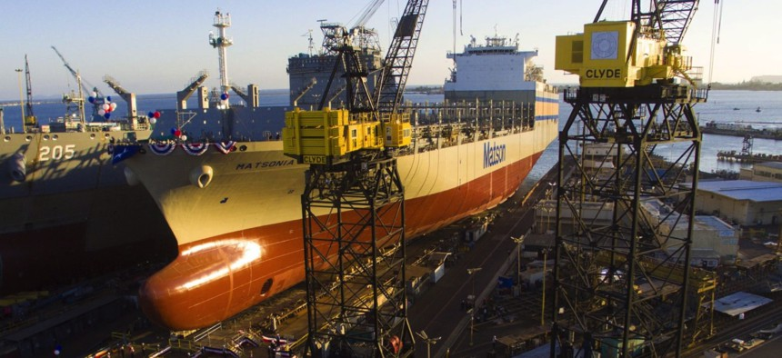 "The Kanalao-class ""con-ro"" ship Matsonia was launched at GD's NASSCO shipyard in July 2020."
