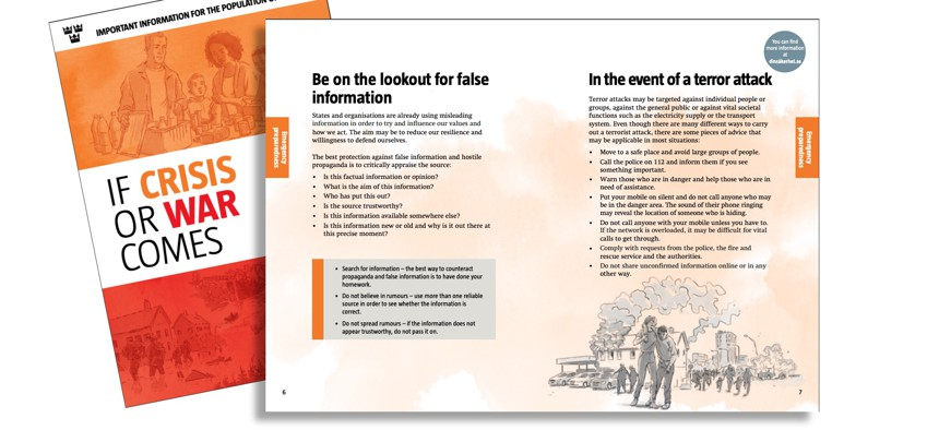 A 2018 brochure aims to help Swedish civilians stay resilient under attack.