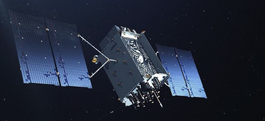 Artist's conception of a GPS III satellite