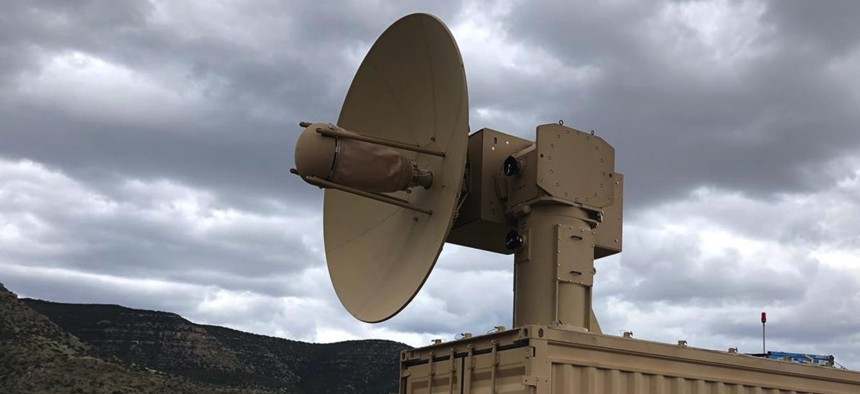 This U.S. Air Force microwave weapon is designed to knock down drones by frying their electronics.