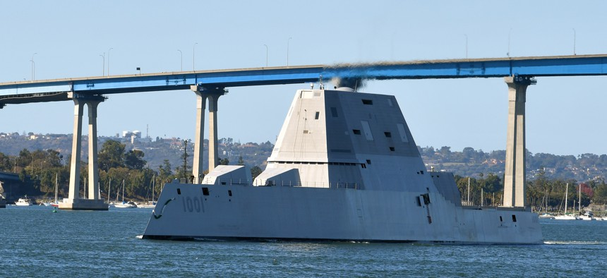 This is USS Michael Monsoor, a DDG 1000-class destroyer. The Navy wants a hull that's even more advanced for its proposed DDG-X.