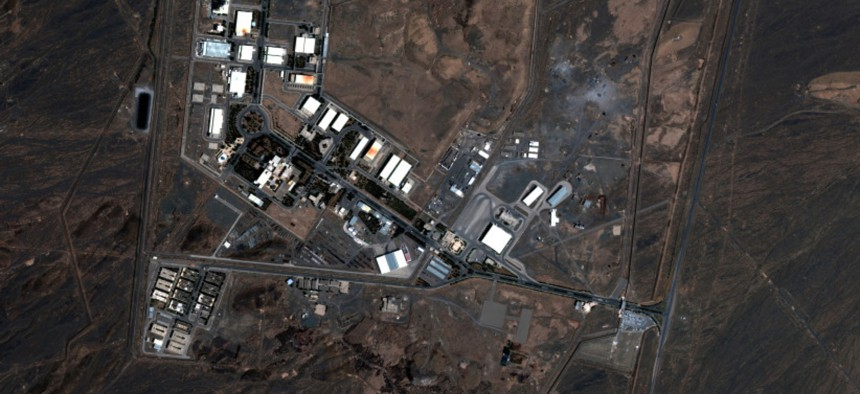 A handout satellite image shows Iran's Natanz nuclear facility after a fire on July 8, 2020.