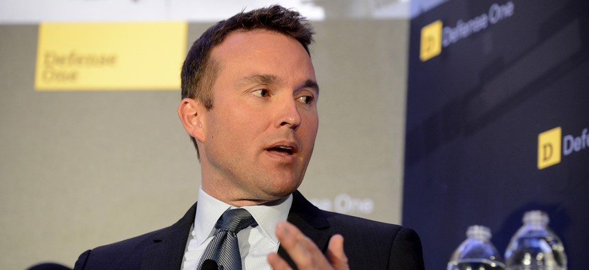 Then-acting Air Force Secretary Eric Fanning speaks at the 2013 Defense One Summit.