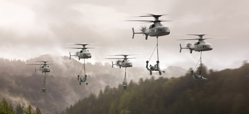 A Sikorsky-Boeing Defiant-X concept image.