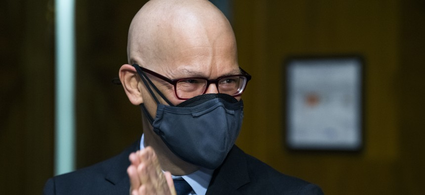 Colin H. Kahl, nominee for Defense undersecretary for policy, is seen before his Senate Armed Services Committee confirmation hearing in Dirksen Building on Thursday, March 4, 2021.