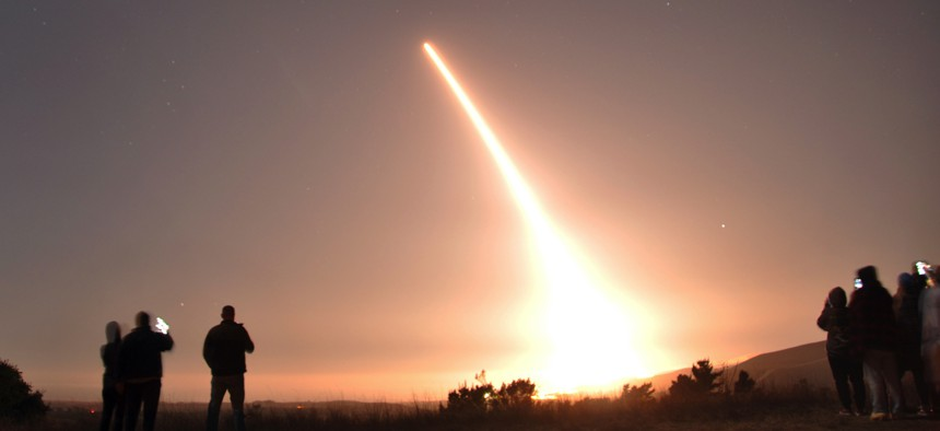 The U.S. Air Force launched an unarmed Minuteman III ICBM on an operational test on Oct. 29, 2020, at Vandenberg Air Force Base, Calif.