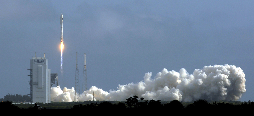On a Space Force mission, a United Launch Alliance Atlas V rocket carrying the X-37B Orbital Test Vehicle (OTV-6) launches from pad 41 at Cape Canaveral Air Force Station, Fla., on May 17, 2020.