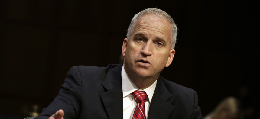 Robert Cardillo, director of the National Geospatial-Intelligence Agency, testifies before a Senate Select Committee on Intelligence on Capitol Hill in Washington, DC on September 27, 2016.