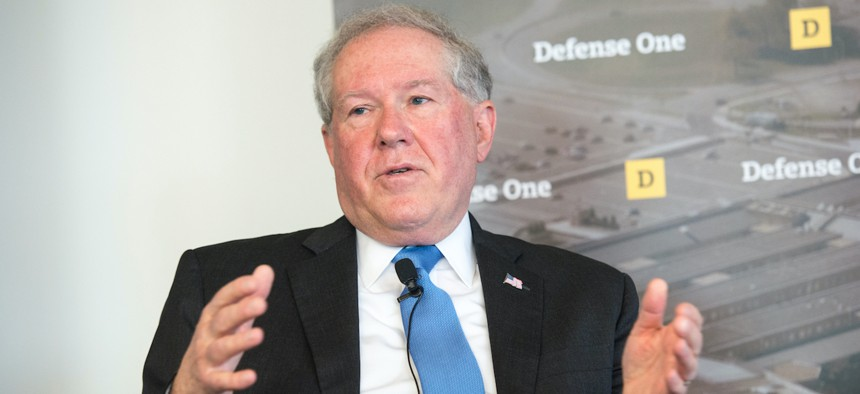 Frank Kendall, shown here speaking at Defense One's 2015 State of Defense Acquisition in Arlington, Va., will be nominated to be the next Air Force secretary.